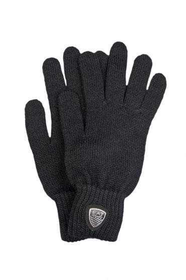 Emporio Armani EA7 Designer Wool Gloves in Navy Grey Brown And Black 2755135A394