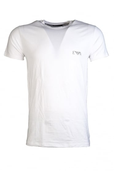 Emporio Armani Fitted Fit Underwear T-shirt in Black and White 110853CC534