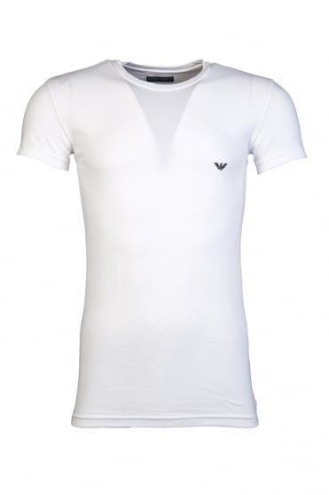 Emporio Armani Fitted Fit Underwear Tee in Black and White 110035CC518