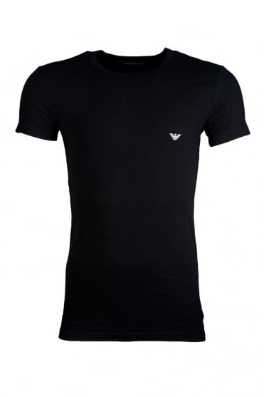 Emporio Armani Fitted Underwear T-shirt in Black and White 111275CC725