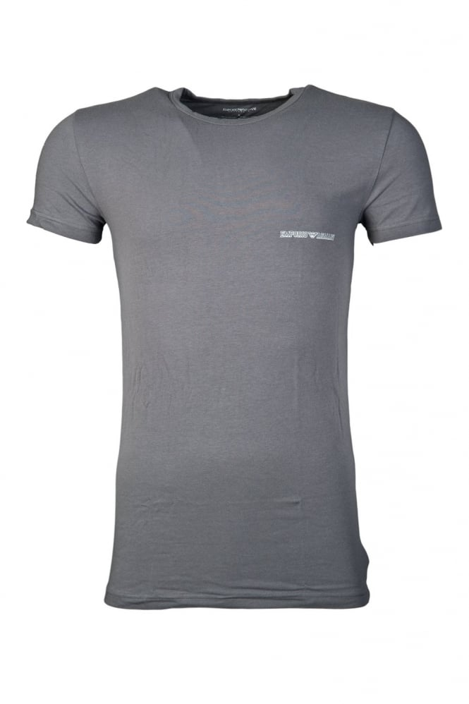 Fitted Underwear T-shirt in Red and Charcoal Grey 1110355P725