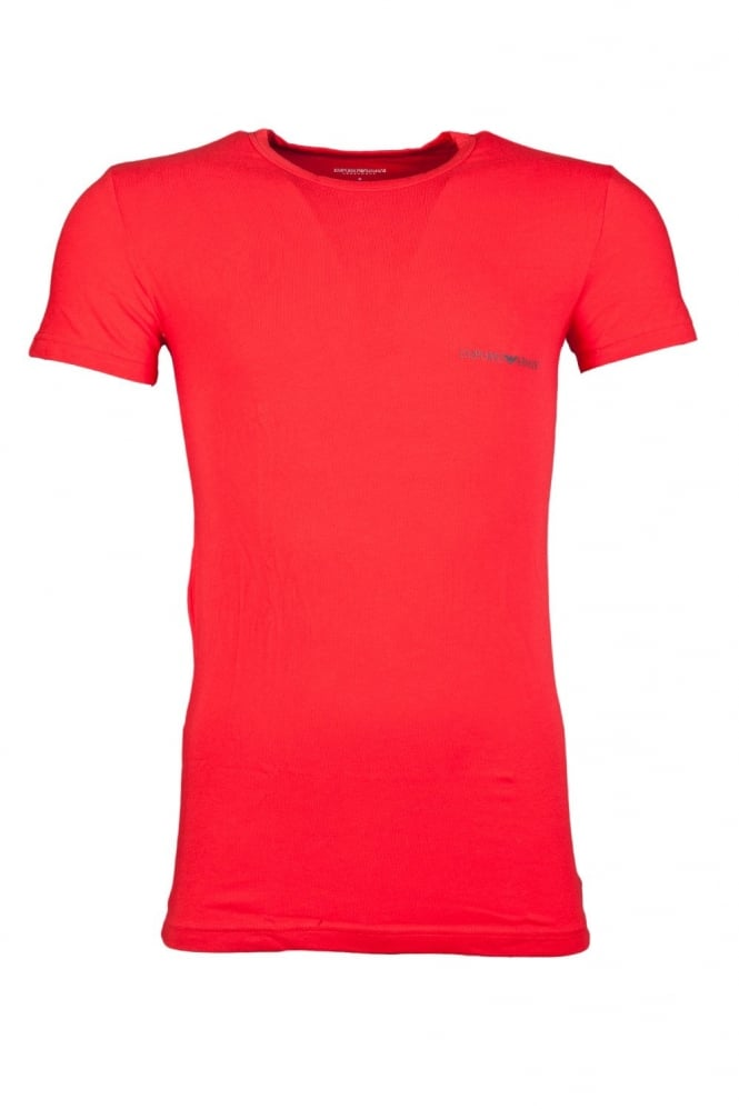 Underwear T-shirt in Black Red and Blue 1110354A725