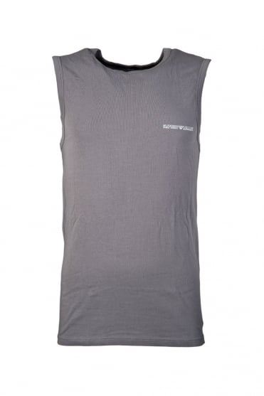 Emporio Armani Underwear Vest in Black, Red and Charcoal Grey 1112345P725
