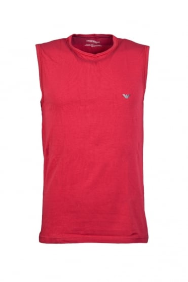 Emporio Armani Vest in Black White Red and Orange 1112344P728