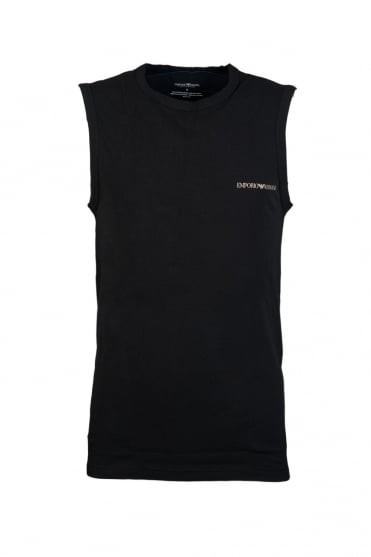 Emporio Armani Vest in White, Black and Navy Blue 1112344P725