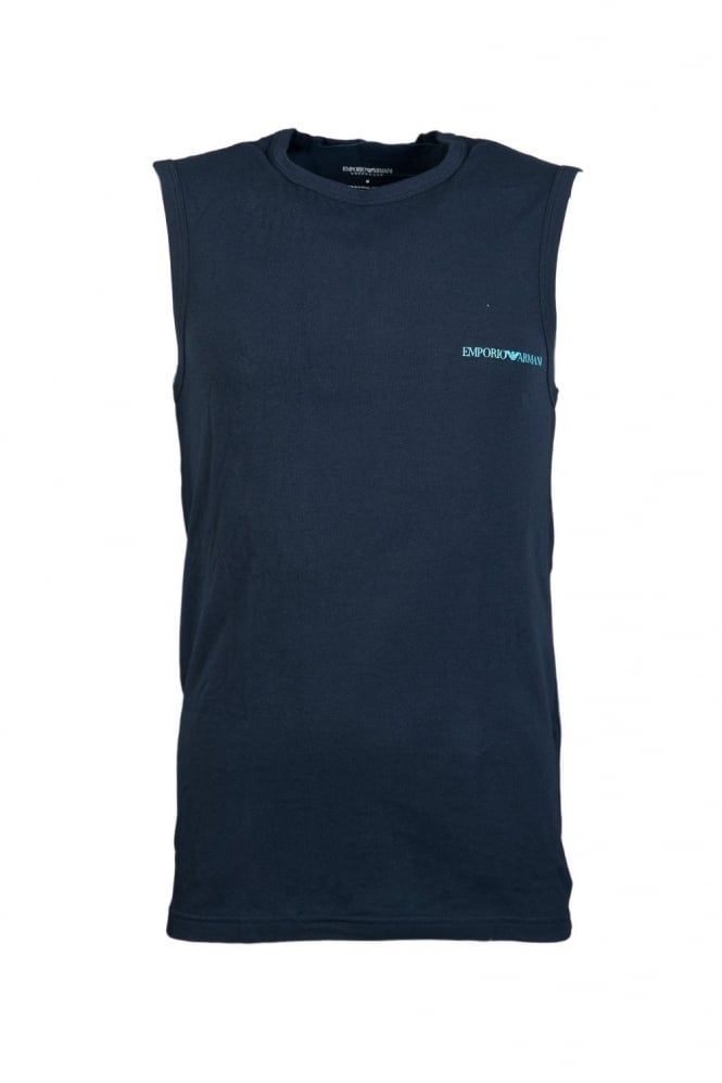 Vest in White Black and Navy Blue 1112344P725