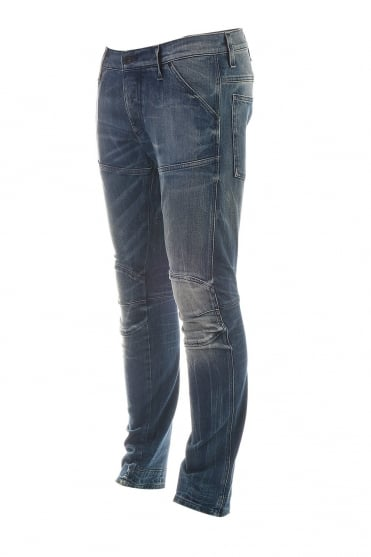 G-Star Regular Slim Fit Denim Jeans in Stonewash Blue 50744-4631-071