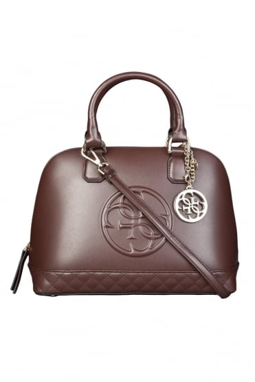 GUESS Faux Leather Hand Bag in Black and Brown HWAMY1P5475