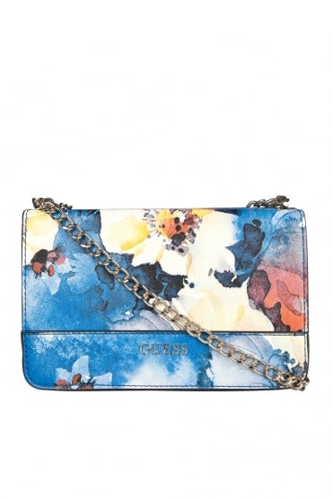 GUESS Floral Printed Cross Body Bag in Multi HWFG5042210