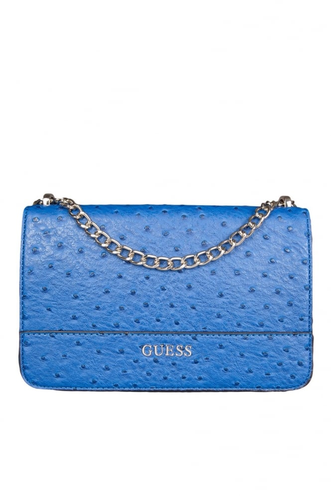Ostrich Look Cross Body Bag in Royal Blue HWOH5042210