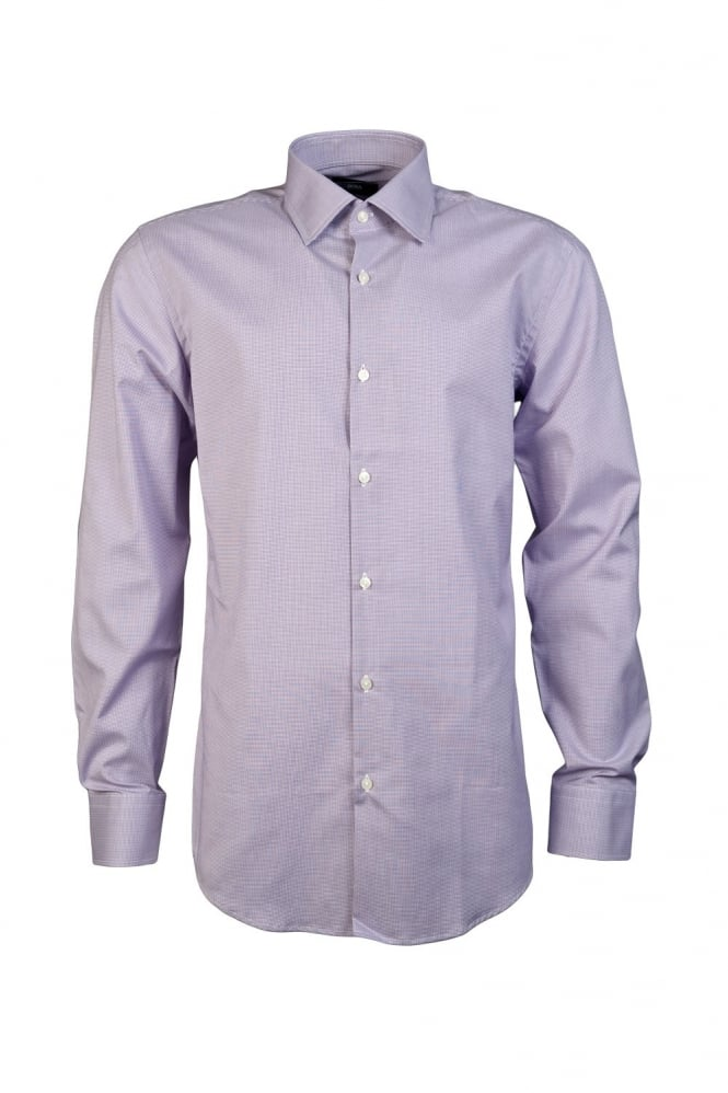 HUGO BLACK Elegant Checked Shirt in Purple and Blue JACOB 50284979