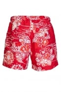 HUGO BOSS BLACK Flower Printed Swimming Shorts in Red and Blue PIRANAH 50260996
