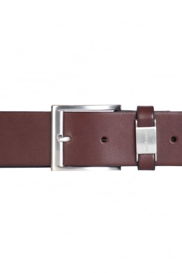 HUGO BOSS BLACK Leather Belt in Black and Brown CONNIO 50224631
