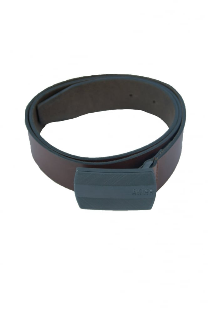 HUGO BOSS BLACK Leather Belt in Brown SALKO 50228925-213