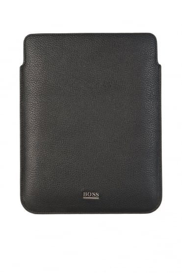 HUGO BOSS BLACK Leather Tablet Case in Black MOHO 50261738