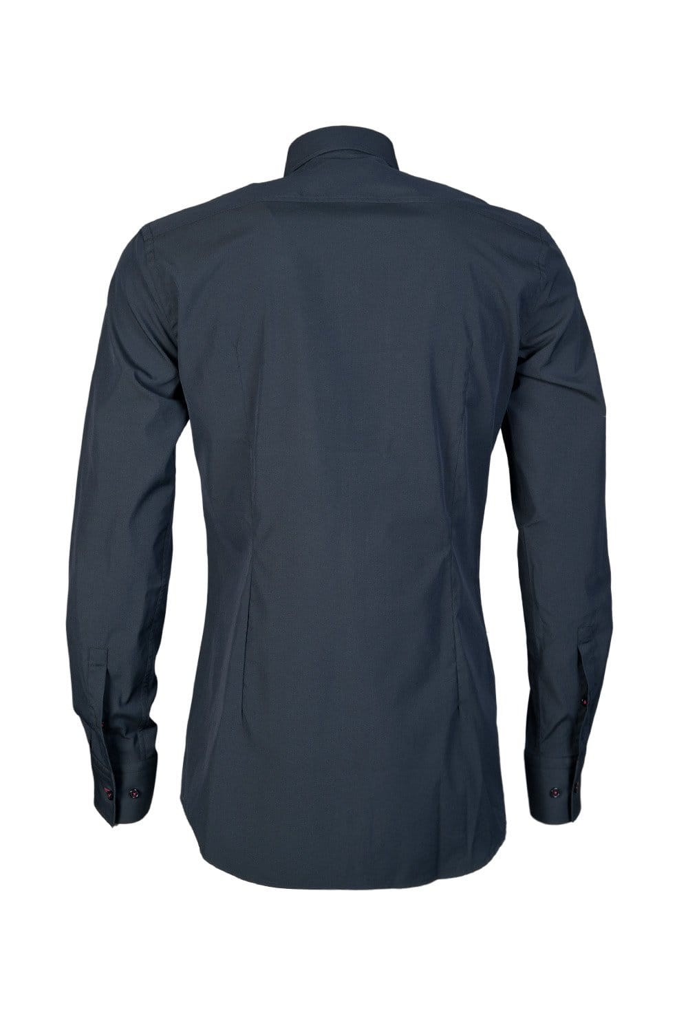 Hugo boss black long sleeve shirt in blue white and black for Blue and white long sleeve shirt
