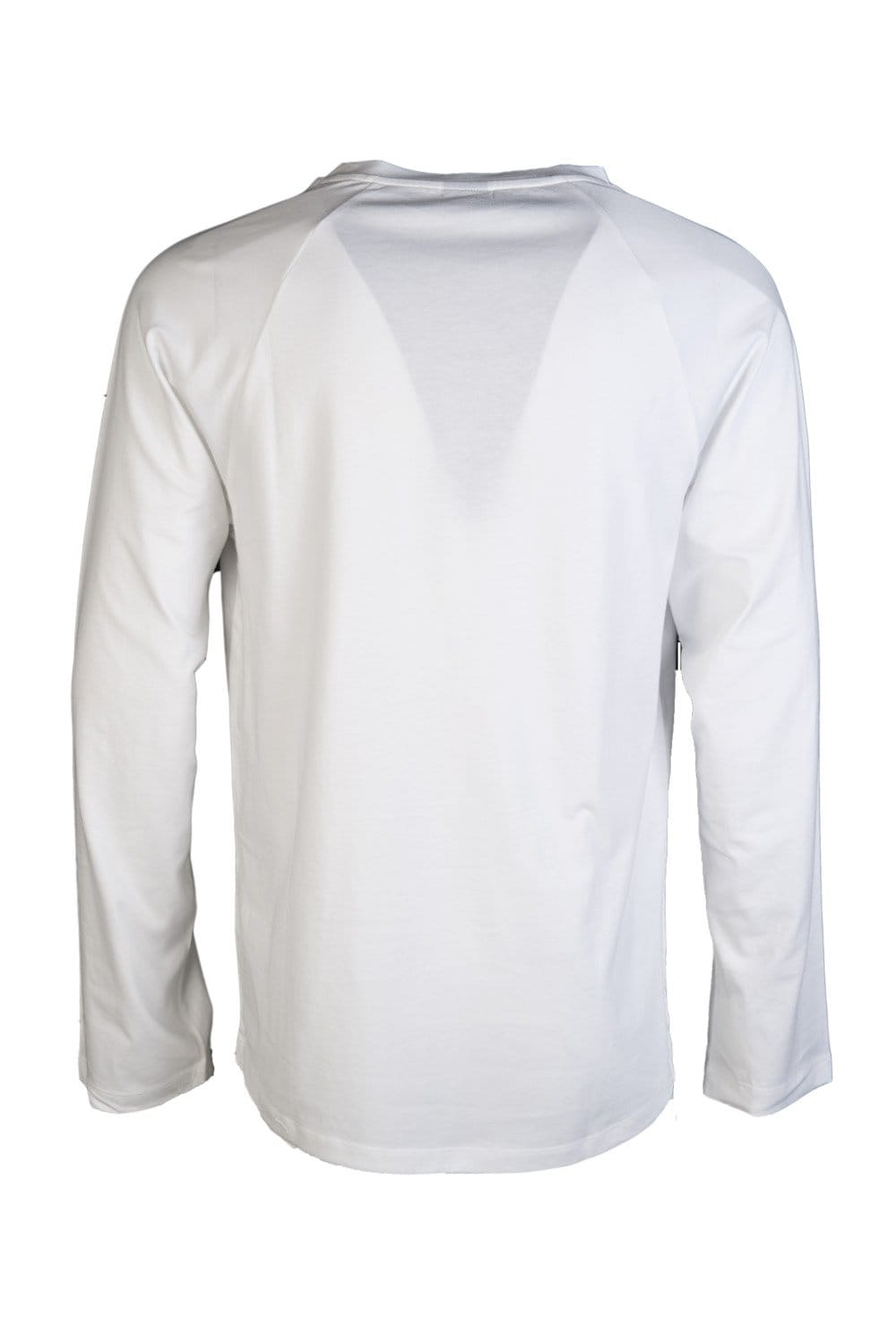 Hugo boss black long sleeve top in white and navy blue for Black and blue long sleeve shirt