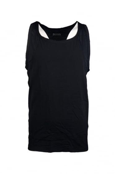 HUGO BOSS BLACK Quick Dry Vest in Black and Charcoal Grey TANK TOP 50271756