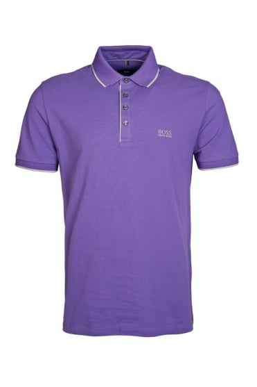 HUGO BOSS BLACK Regular Fit Polo Shirt in Purple, Grey and Range of Colours FIRENZE 49 50285339
