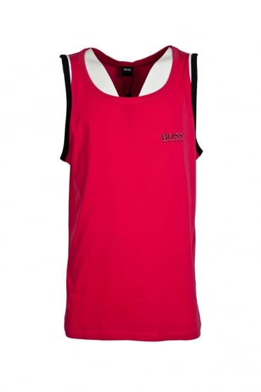 HUGO BOSS BLACK Regular Fit Vest in Blue and Pink BEACH TANK TOP 50286806