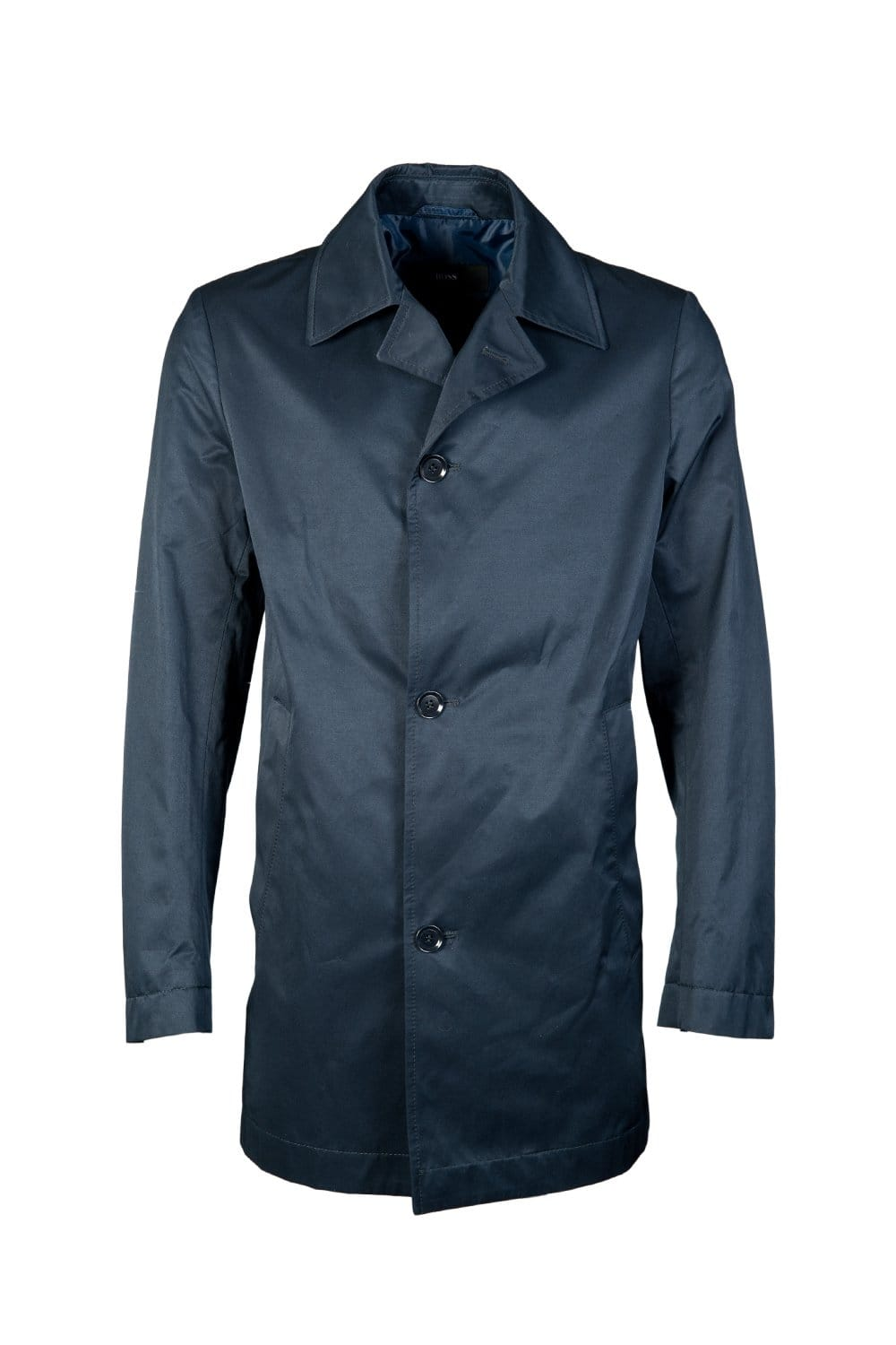 hugo boss black water repellent trench coat in navy blue dais1 50261001 clothing from sage. Black Bedroom Furniture Sets. Home Design Ideas