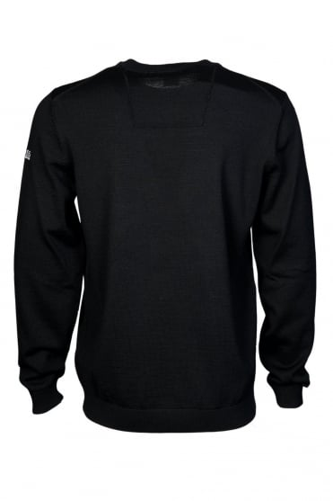 HUGO BOSS Crew Neck Knitwear in Grey and Black RANDO_FW15 50299737