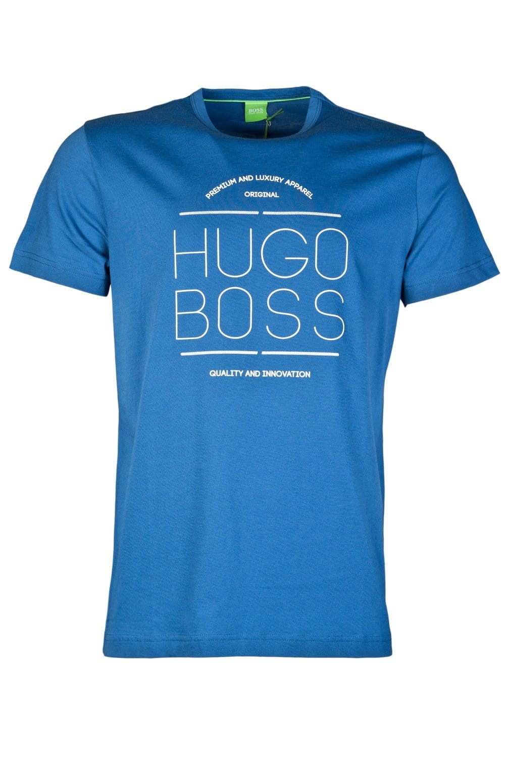 Hugo Boss Green Casual T Shirt In Black And Royal Blue Tee