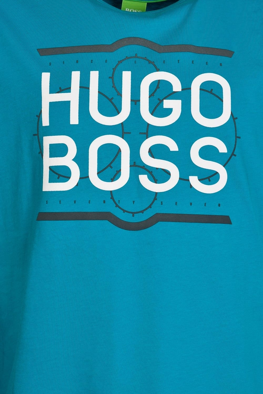 hugo boss green classic short sleeve tee in black white. Black Bedroom Furniture Sets. Home Design Ideas