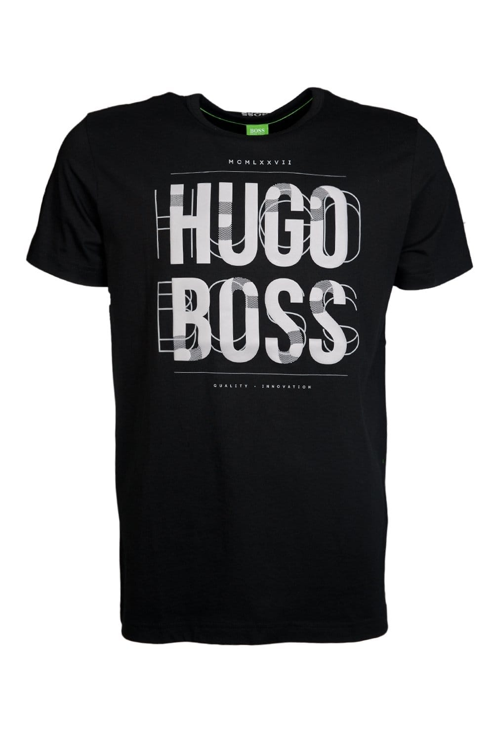 designer t shirts hugo green designer t shirt in black and navy blue 30347