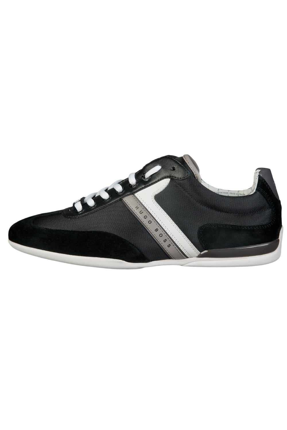hugo boss green leather mix sneakers in black spacito 50292894 boss green from sage clothing uk. Black Bedroom Furniture Sets. Home Design Ideas