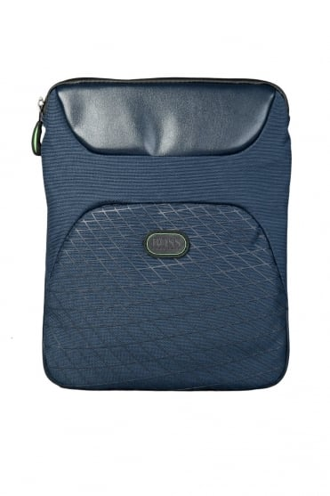 HUGO BOSS GREEN Pouch Bag in Black and Navy Blue BANDO 50285567