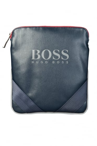 HUGO BOSS GREEN Pouch Bag in Navy Blue MASIO 50285544