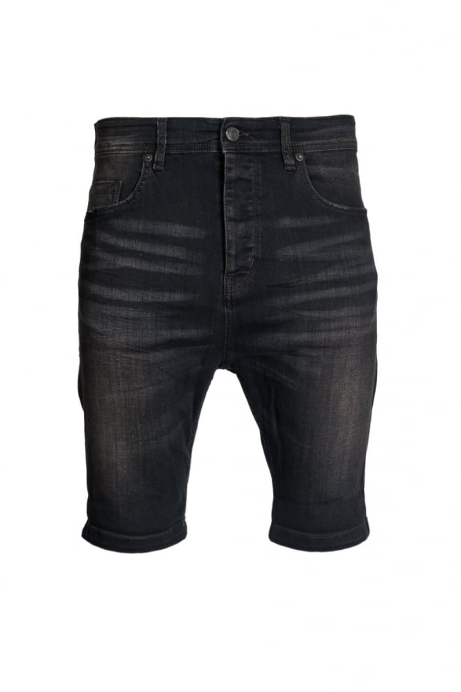 HUGO High Rise Denim Shorts in Black ORANGE99 50283156