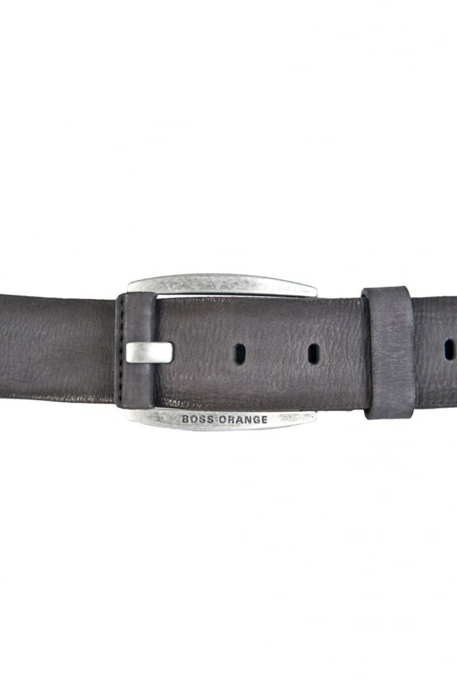HUGO BOSS ORANGE Leather Belt in Black BAKABA 50249295