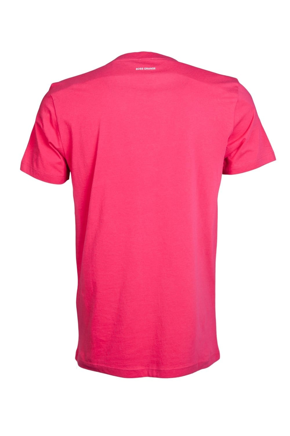 hugo boss orange round neck t shirt in white and pink. Black Bedroom Furniture Sets. Home Design Ideas
