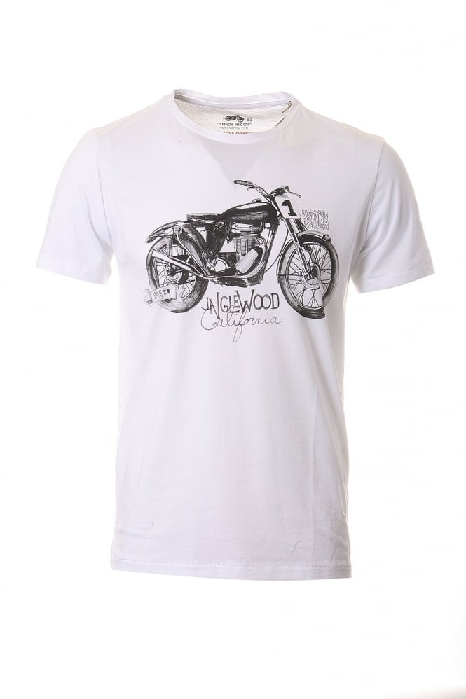 HUGO Short Sleeved Tee in White Purple Grey and Black TAKEOUT 1 50240671
