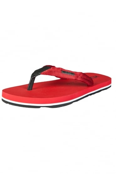HUGO BOSS RED Designer Flip-Flops in Black, Red and Blue NOMMAN 50265824