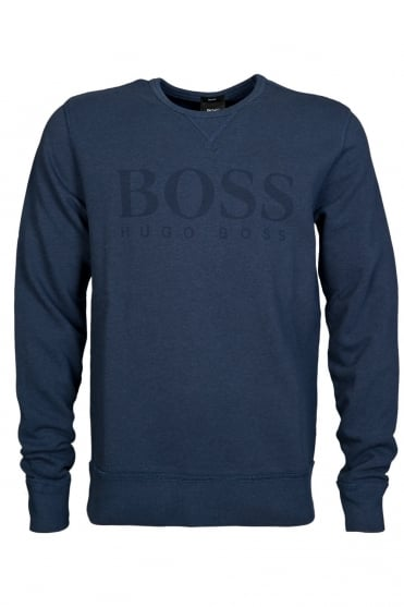 HUGO BOSS Slim Fit Sweatshirt in Charcoal Grey and Navy Blue ABRUZZI 17 50297940