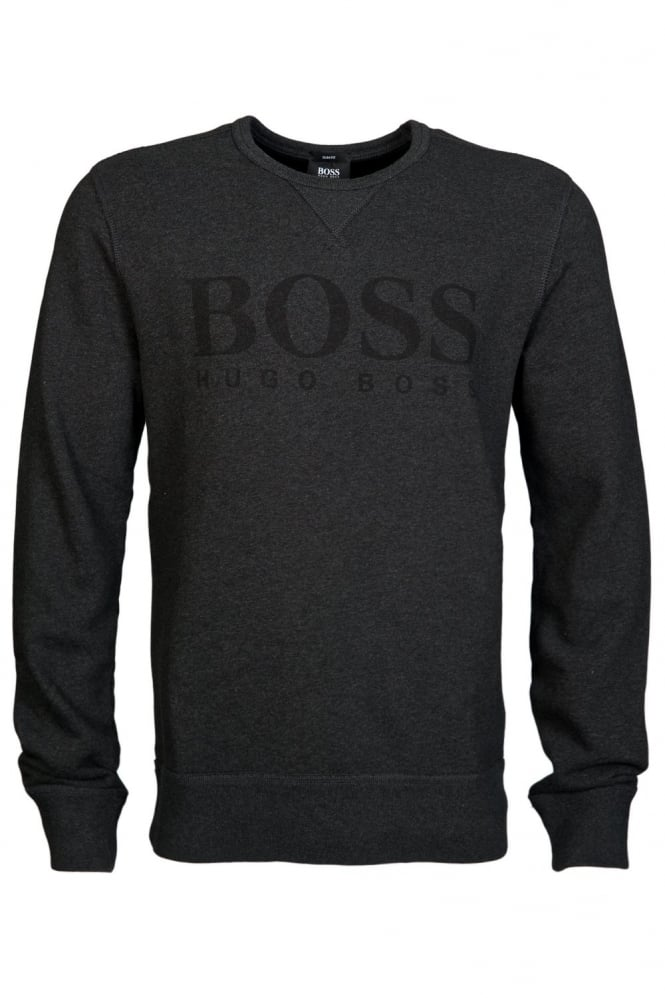 HUGO Slim Fit Sweatshirt in Charcoal Grey and Navy Blue ABRUZZI 17 50297940