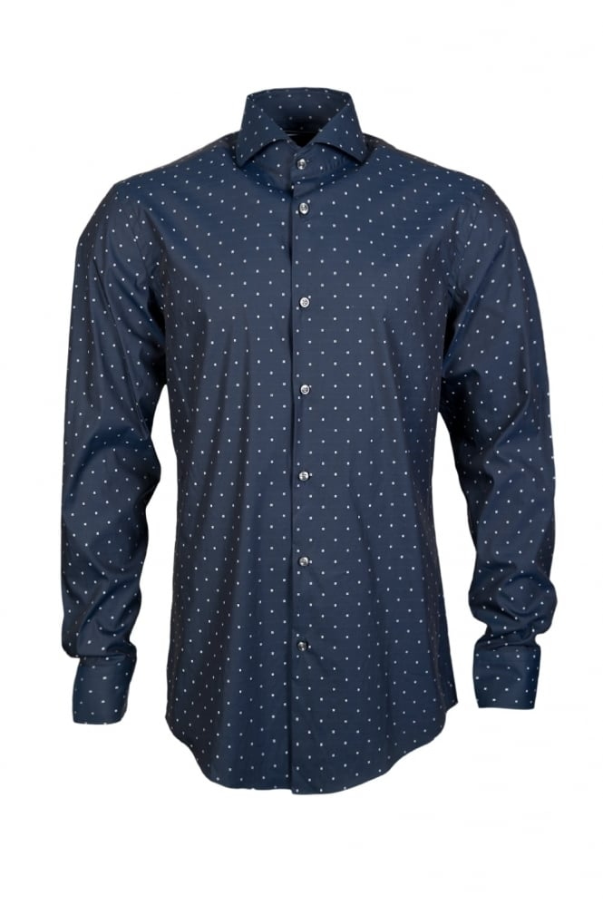 Hugo boss spotted shirt 50310553 clothing from sage for Hugo boss men s dress shirts