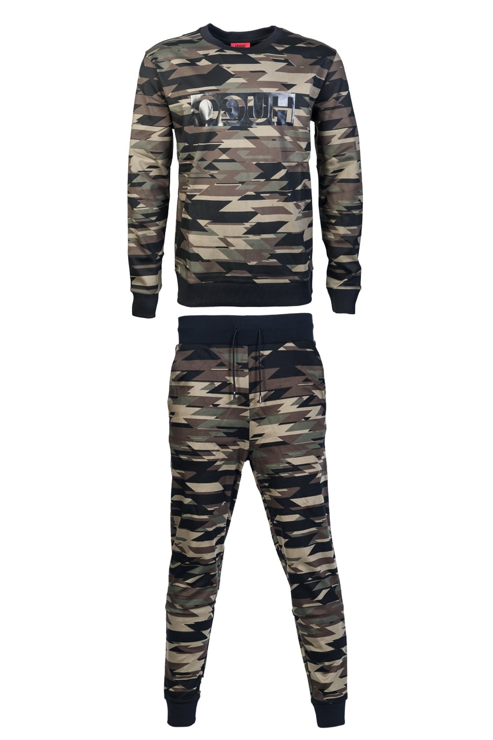 Hugo Boss Driggs Tracksuit Camouflage and Black