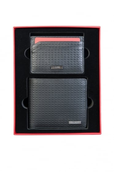 HUGO Wallet with 8 Card Slots and Card Holder with 4 Card Slots Gift Set GBH16FW-8CC 50322583