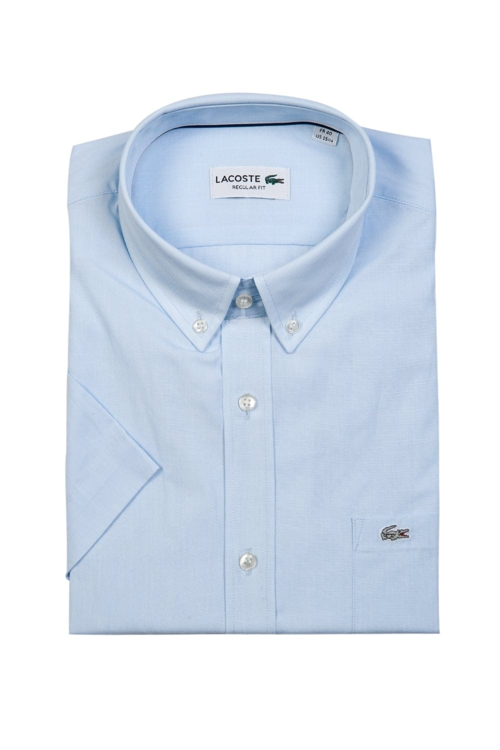 Lacoste short sleeve shirt ch6098 fsl lacoste from sage for Short sleeve lacoste shirt