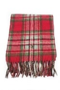 Men's Ralph lauren Reversible Scarf In Red Checkered and Brown Checkered A67A2024N1380-J61T4