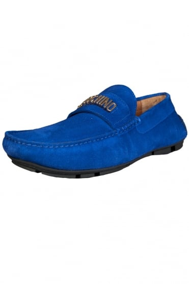 Moschino Designer Driver Shoes in Royal Blue 56092-12009003-02-9113