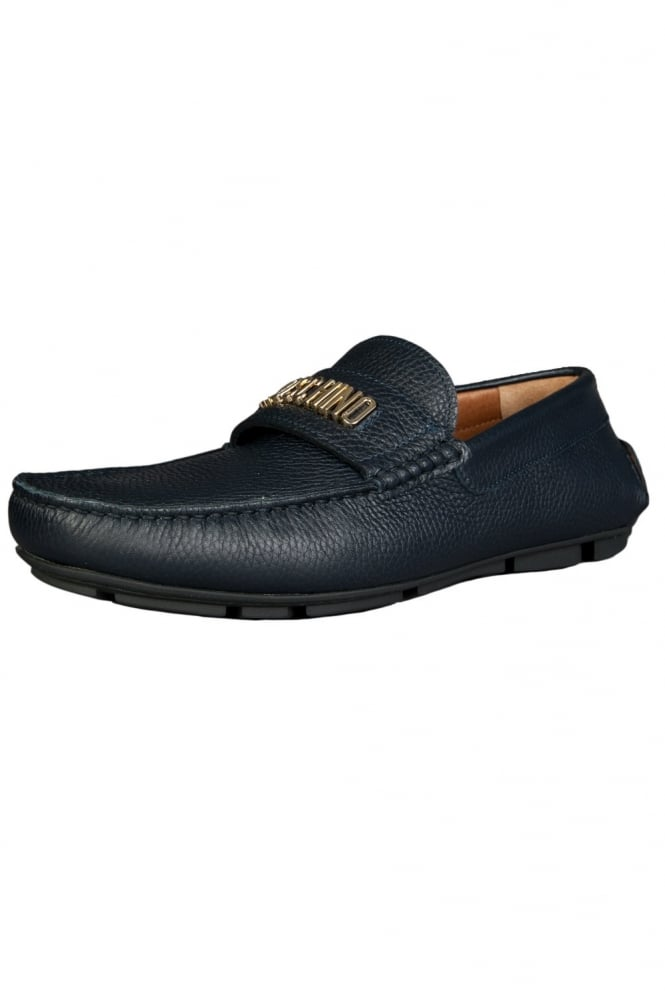 Designer Driving Shoes in Navy Blue 56092-12009003-01-9104