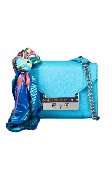 Moschino Ladies Faux Leather Shoulder Bag in Blue JC4233PP0K-701