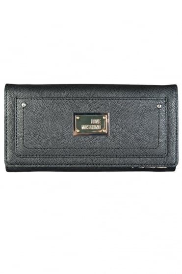 Moschino Ladies Faux Leather Wallet in Black JC5537PP0K-000