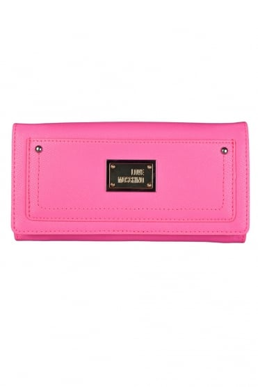 Moschino Ladies Faux Leather Wallet in Pink JC5537PP0K-600
