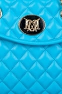 Moschino Ladies Quilted Designer Bag in Blue JC4214PP0K-701